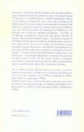 L'Invention Du Temps - Tome 4 La Deraison Journal Litteraire 1974-1977 - 4ème de couverture - Format classique