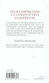Pour Comprendre La Constitution Europeenne - 4ème de couverture - Format classique
