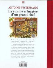 Cuisine Menagere D'Un Grand Chef (La) - 4ème de couverture - Format classique