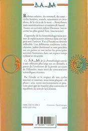B.A.-B.A. de la chronobiologie - 4ème de couverture - Format classique