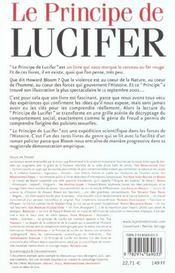 Le principe de Lucifer - 4ème de couverture - Format classique