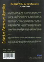 Du paganisme au christianisme - 4ème de couverture - Format classique