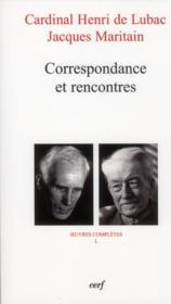 Correspondance Et Rencontres - Couverture - Format classique