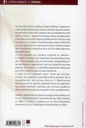 Herméneutique naturaliste - 4ème de couverture - Format classique