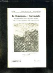 La Renaissance Provinciale N° 123 Juillet Aout Septembre 1958. Chasse A Courre Par Carle Vernet. - Couverture - Format classique