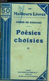 Poesies Choisies - Tome 2 - Couverture - Format classique