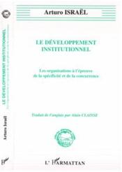 Developpement Institutionnel - Couverture - Format classique