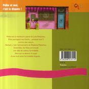 Lola ; polka et moi, c'est la dispute ! - 4ème de couverture - Format classique