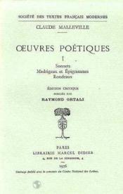 Oeuvres Poetiques - Couverture - Format classique