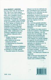 Abrege D'Histoire Des Terres Catalanes Du Nord - 4ème de couverture - Format classique