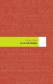 Le vin d'al-andalus - Intérieur - Format classique