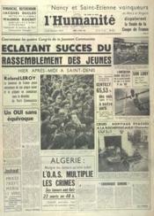 Humanite (L') N°5472 du 02/04/1962 - Couverture - Format classique