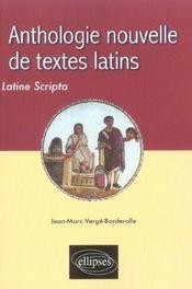 Anthologie Nouvelle De Textes Latins Latine Scripta - Intérieur - Format classique