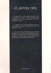 Le Japon, 1993 - 4ème de couverture - Format classique