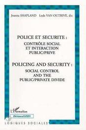 Police et sécurité ; contrôle social et interaction public/privé - Intérieur - Format classique