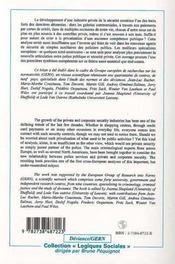 Police et sécurité ; contrôle social et interaction public/privé - 4ème de couverture - Format classique