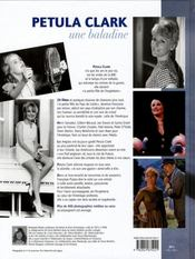 Petula Clark, une baladine - 4ème de couverture - Format classique