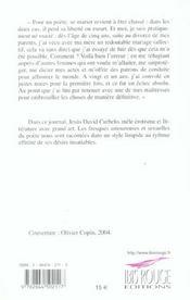 Journal D'Un Poete Marie. Nouvelles - 4ème de couverture - Format classique