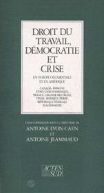 Droit du travail ; democratie et crise en Europe occidentale - Couverture - Format classique