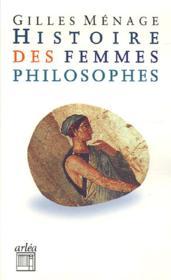 Histoire Des Femmes Philosophes - Couverture - Format classique