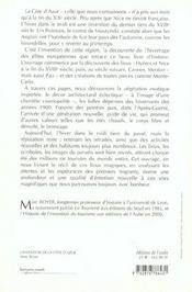 L'Invention Sur La Cote D'Azur - 4ème de couverture - Format classique
