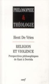 Religion Et Violence - Couverture - Format classique