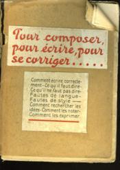 L'Art De Composer D'Ecrire Et De Se Corriger. La Clarte Francaise - Couverture - Format classique