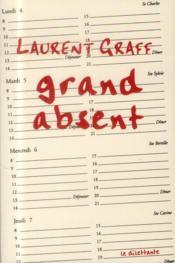 Grand absent - Couverture - Format classique