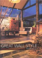 Great Wall Style /Anglais - Couverture - Format classique