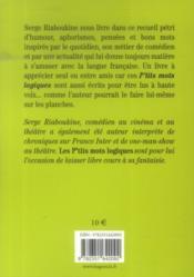 Les p'tits mots logiques ; aphorismes et pensées - 4ème de couverture - Format classique