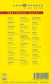 Dom Juan - Moliere - 4ème de couverture - Format classique