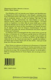 Marguerite de Valois, mémoires et discours - 4ème de couverture - Format classique