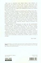 Luberon ; Dictionnaire D'Une Montagne Magique - 4ème de couverture - Format classique