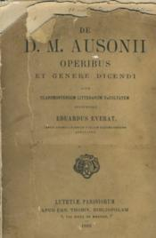 Operibus Et Genere Dicendi - Couverture - Format classique