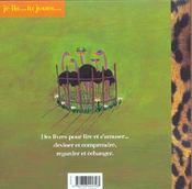 Je Lis...Tu Joues T.3; Les Zozos Au Zoo - 4ème de couverture - Format classique