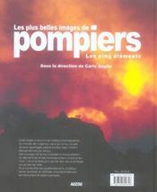 Les plus belles images de pompiers les 5 éléments - 4ème de couverture - Format classique