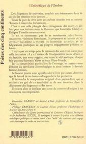 L'Esthetique De L'Ombre - 4ème de couverture - Format classique