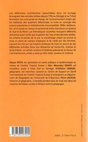Villes En Sursis Au Sahel ; Experiences Au Tchad Et Au Senegal - 4ème de couverture - Format classique