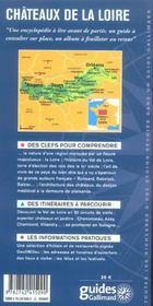 Chateaux De La Loire (Blois, Chambord, Amboise, Chenonceau, Aza - 4ème de couverture - Format classique