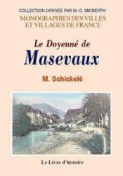 Masevaux (Le Doyenne De) - Couverture - Format classique