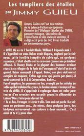 Jimmy Guieu N.129 ; Les Templiers Des Etoiles - 4ème de couverture - Format classique