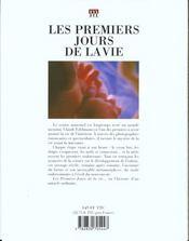 Premiers Jours De La Vie (Les) - 4ème de couverture - Format classique