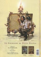 Le Grimoire Du Petit Peuple T.1 ; Le Crepuscule - 4ème de couverture - Format classique