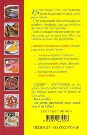 Almanach gisserot de la cuisine - 4ème de couverture - Format classique