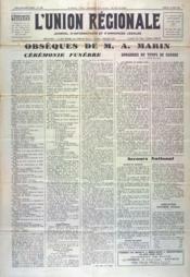 Union Regionale (L') N°1190 du 21/06/1941 - Couverture - Format classique