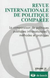 Revue Internationale De Politique Comparee N.2012/2 - Couverture - Format classique