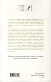 Repenser les rapports entre sciences et philosophie - 4ème de couverture - Format classique