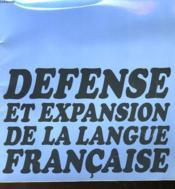 Premier Ministre - Haut Comite Pour La Defense Et L'Expansion De La Lanfue Francaise - Couverture - Format classique