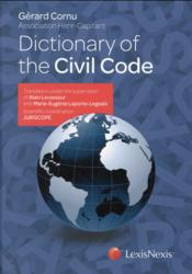 Vente livre :  Dictionary of the civil code  - Gerard Cornu