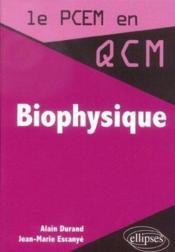 Biophysique - Couverture - Format classique